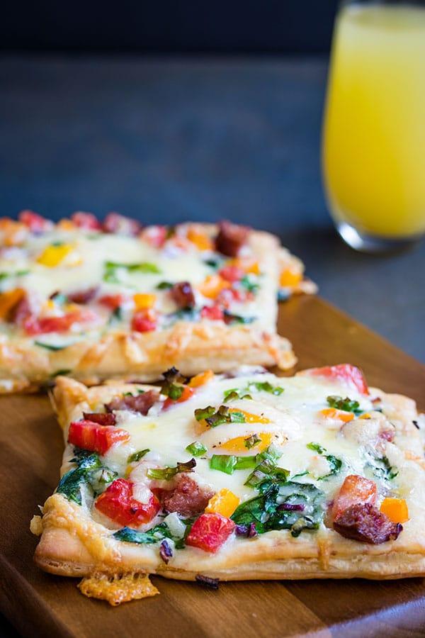 30 Min Baked Eggs Breakfast Tarts & Hollandaise Sauce