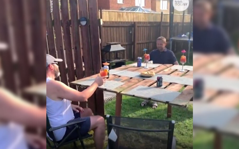 Backyard Neighbors 'Genius' Viral Social Distancing Party Hack Is Anything But
